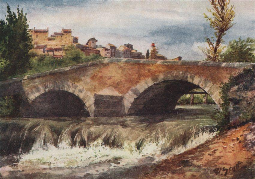 Associate Product 'Old bridge, Cagnes' by William Scott. Alpes-Maritimes 1907 antique print