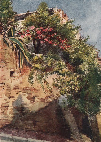 Associate Product 'A street corner, Cagnes' by William Scott. Alpes-Maritimes 1907 old print