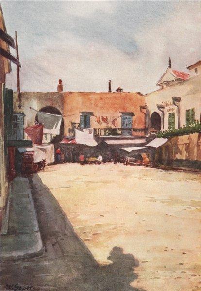 Associate Product 'A corner near the market, Nice' by William Scott. Alpes-Maritimes 1907 print