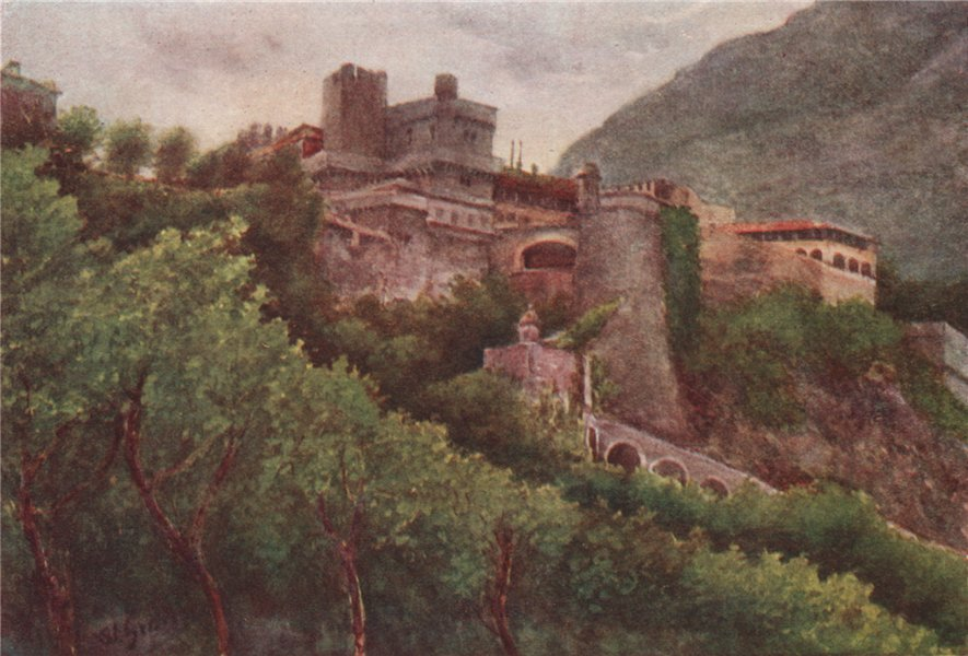 Associate Product 'Monaco - evening' by William Scott. Monaco 1907 old antique print picture