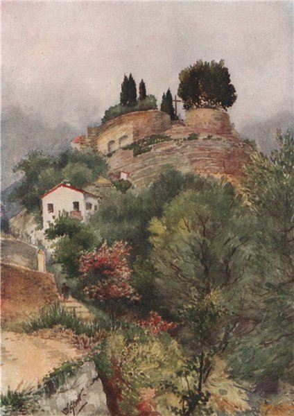 Associate Product MENTON. Monastery of the Annonciade; south by Scott. Alpes-Maritimes 1907