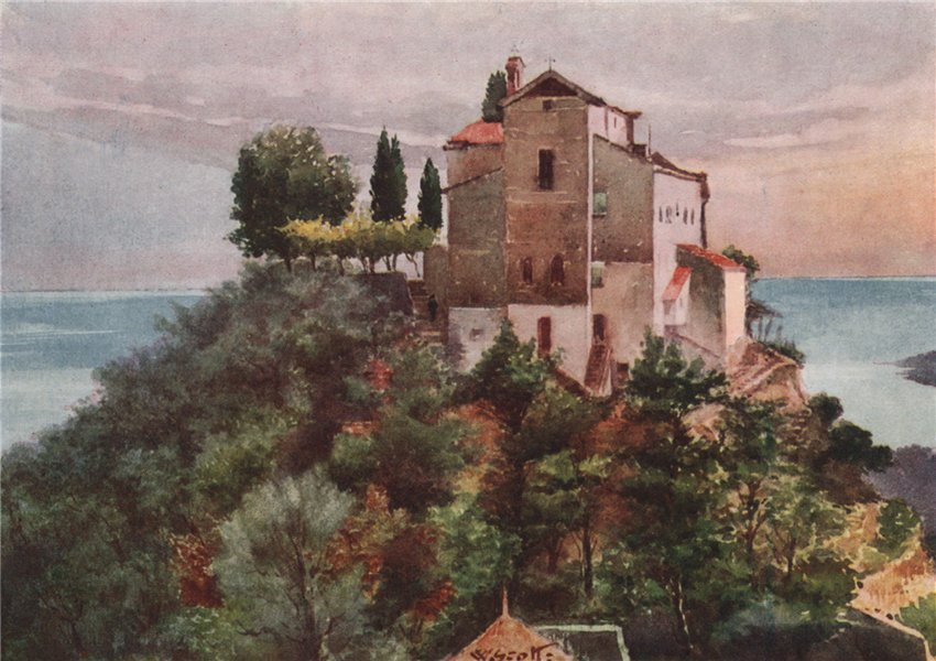 Associate Product MENTON. Monastery of the Annonciade; north by Scott. Alpes-Maritimes 1907