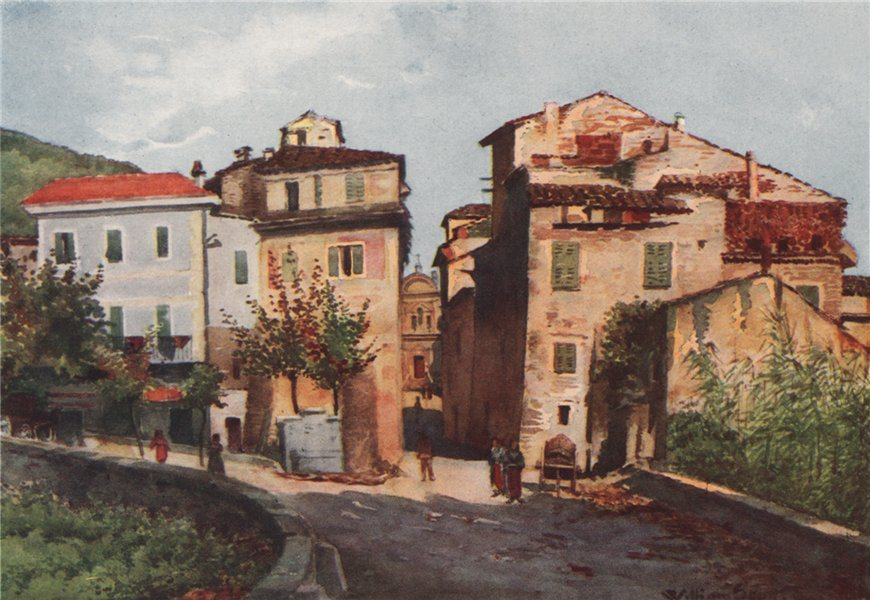 Associate Product CAMPOROSSO. 'Entrance to Camporosso - West' by William Scott. Italy 1907 print