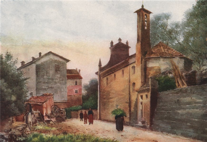 Associate Product CAMPOROSSO. 'Entrance to Camporosso - East' by William Scott. Italy 1907 print