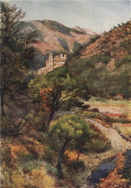 Associate Product 'In the Nervia Valley - Castle of the Doria' by William Scott. Italy 1907