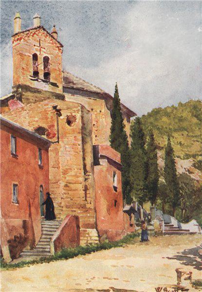 Associate Product 'Church of Perti, near Castello Gavone' by William Scott. Italy 1907 old print