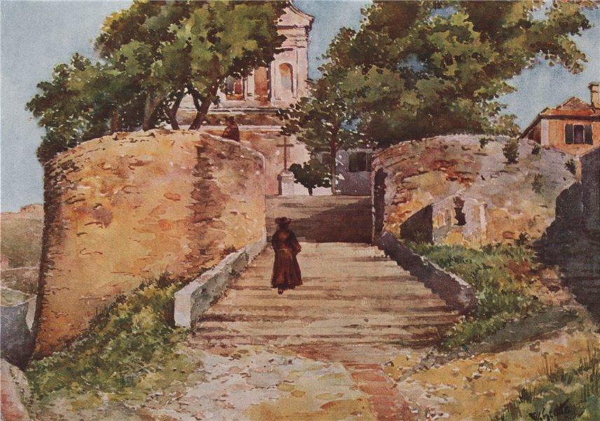 Associate Product GENOVA. 'Chiesa Dell' Oregina, Genoa' by William Scott. Italy 1907 old print