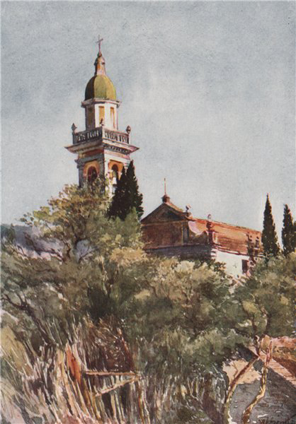Associate Product 'Church of San Massimo, near Rapallo' by William Scott. Italy 1907 old print