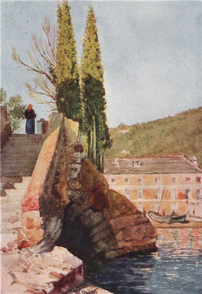 """Associate Product 'The """"Cavetto di San Michele,"""" near Rapallo' by William Scott. Italy 1907"""