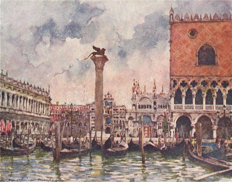 Associate Product VENEZIA. 'St. Mark's Piazza' by Mortimer Menpes. Venice 1916 old antique print