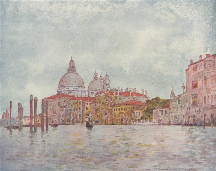 Associate Product CANAL GRANDE. 'On the Grand Canal' by Mortimer Menpes. Venice 1916 old print