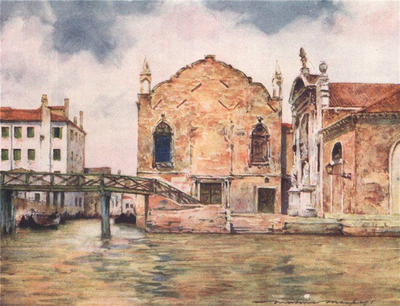 Associate Product VENEZIA. 'San Maria della Misericordia' by Mortimer Menpes. Venice 1916 print