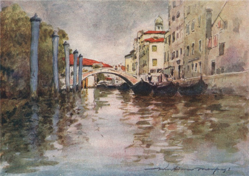 Associate Product 'Timber boats from the shores of the Adriatic' by Mortimer Menpes. Venice 1916