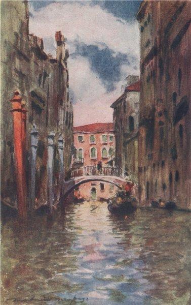 Associate Product VENEZIA. 'Rio di San Marina' by Mortimer Menpes. Venice 1916 old antique print