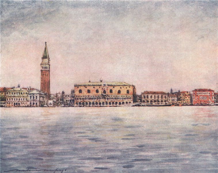 Associate Product VENEZIA. 'Panorama seen from St. Mark's Basin' by Mortimer Menpes. Venice 1916