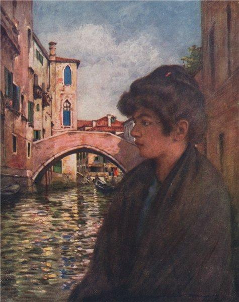 Associate Product VENEZIA. 'Marietta' by Mortimer Menpes. Venice 1916 old antique print picture