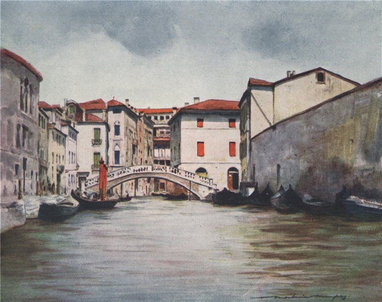 Associate Product VENEZIA. 'Under the midday sun' by Mortimer Menpes. Venice 1916 old print