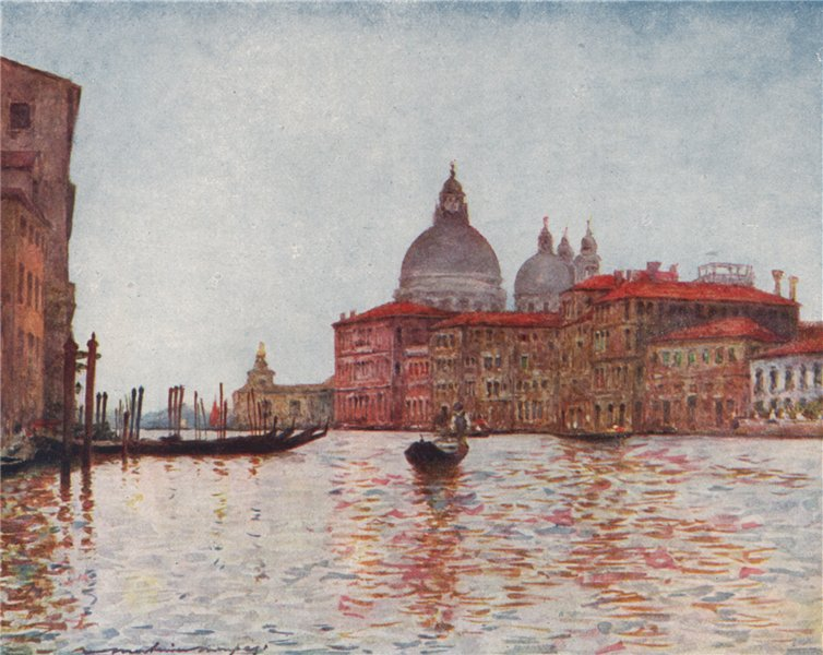 Associate Product 'Grand Canal looking towards the Dogana' by Mortimer Menpes. Venice 1916 print