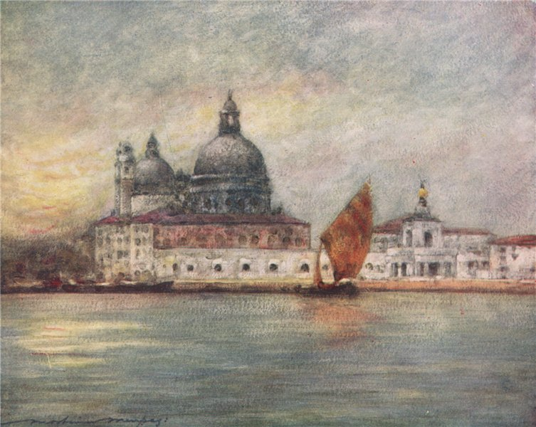 Associate Product 'The Custom House & Church of Santa Maria Della Salute' by Menpes. Venice 1916