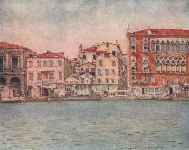 Associate Product VENEZIA. 'Palazzo Danieli' by Mortimer Menpes. Venice 1916 old antique print