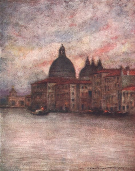 Associate Product VENEZIA. 'Santa Maria Della Salute' by Mortimer Menpes. Venice 1916 old print