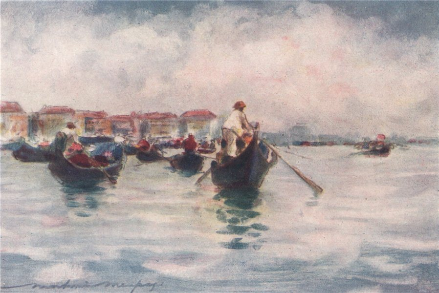 Associate Product VENEZIA. 'Midday on the Lagoon' by Mortimer Menpes. Venice 1916 old print