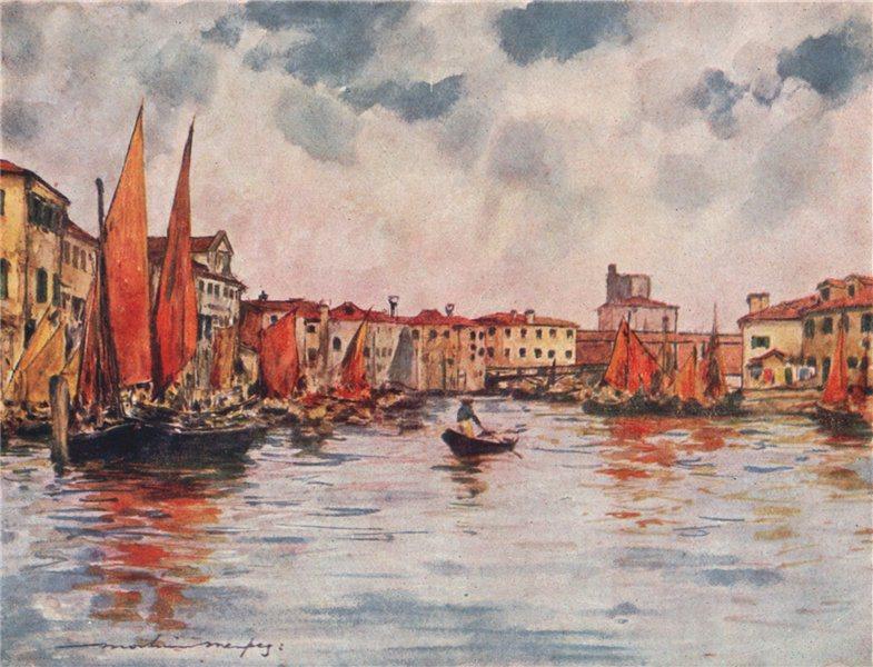 Associate Product 'Chioggia' by Mortimer Menpes. Venice 1916 old antique vintage print picture