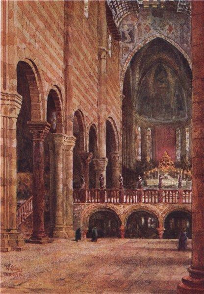 Associate Product VERONA. 'Interior of San Zeno, Verona' by William Wiehe Collins. Italy 1911