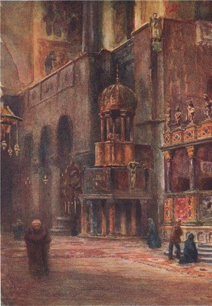 Associate Product VENEZIA. 'Interior, St. Mark's, Venice' by William Wiehe Collins. Venice 1911