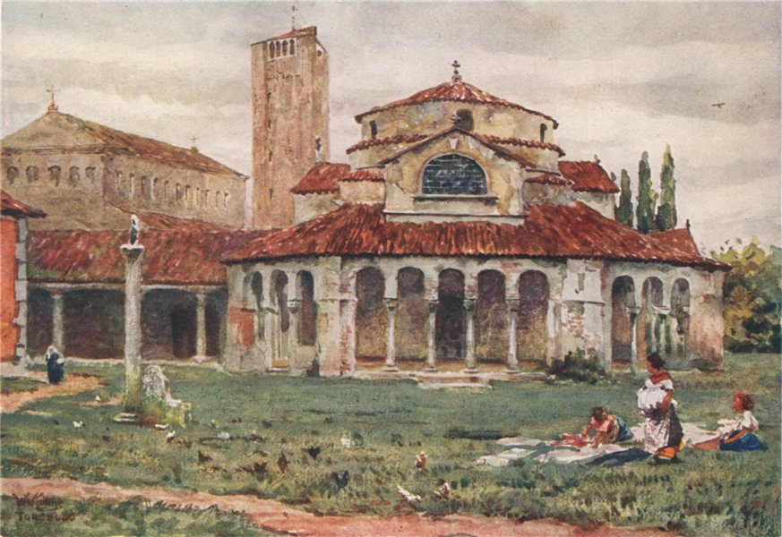 Associate Product TORCELLO. 'San Fosca and Cathedral' by William Wiehe Collins. Italy 1911 print