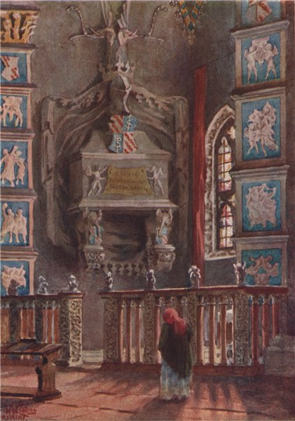 Associate Product 'Isotta's Tomb in the Cathedral, Rimini' by William Wiehe Collins. Italy 1911