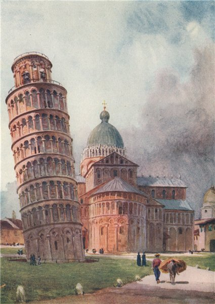 Associate Product 'The Campanile and Duomo, Pisa' by William Wiehe Collins. Italy 1911 old print