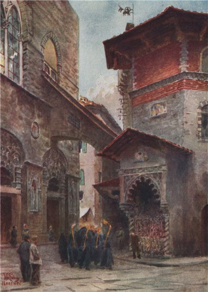Associate Product FLORENCE. Firenze; San Michele; Palazzo Dell' Arte di Lana. W Wiehe Collins 1911