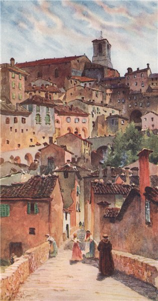 Associate Product 'The Cathedral and Old Town, Perugia' by William Wiehe Collins. Italy 1911
