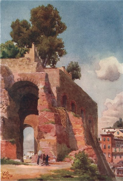 Associate Product ROMA. 'On the Palatine, Rome' by William Wiehe Collins. Rome 1911 old print