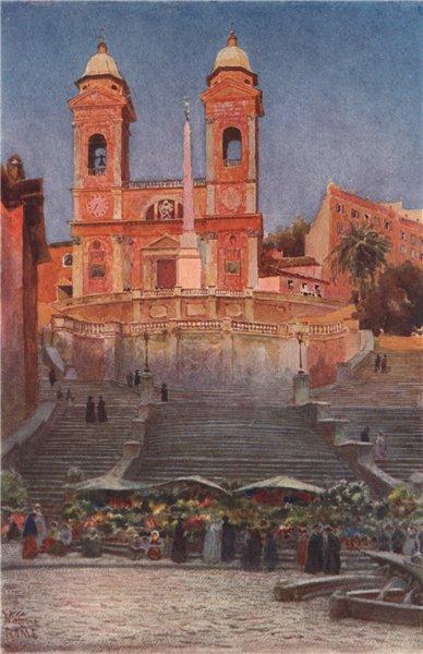 Associate Product ROME. Chiesa della santissima Trinita dei Monti, by William Wiehe Collins 1911