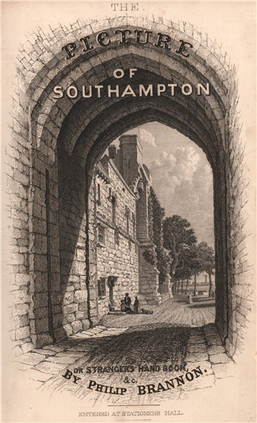 Associate Product PICTURE OF SOUTHAMPTON. Title page. BRANNON 1853 old antique print