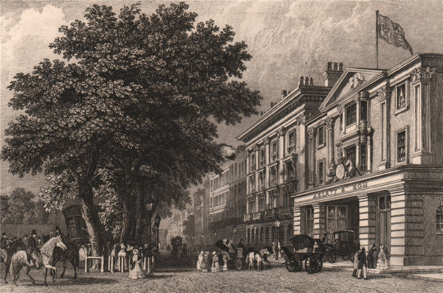 Associate Product SOUTHAMPTON. Above-bar & Aslall's Coach Manufactory. BRANNON 1853 old print
