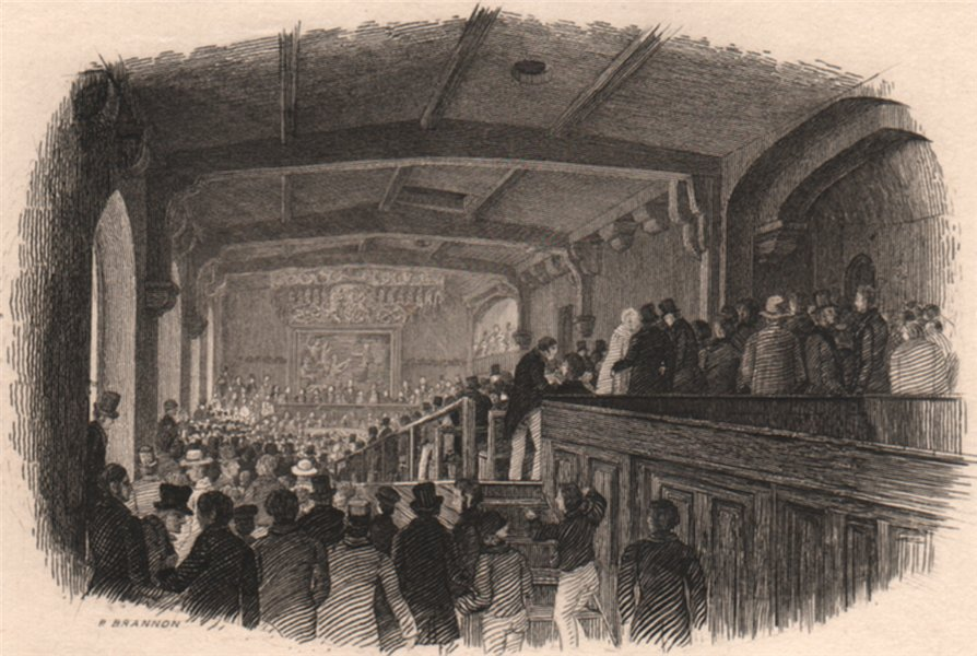Associate Product SOUTHAMPTON. Interior of the ancient Town Hall over the Bargate. BRANNON 1853