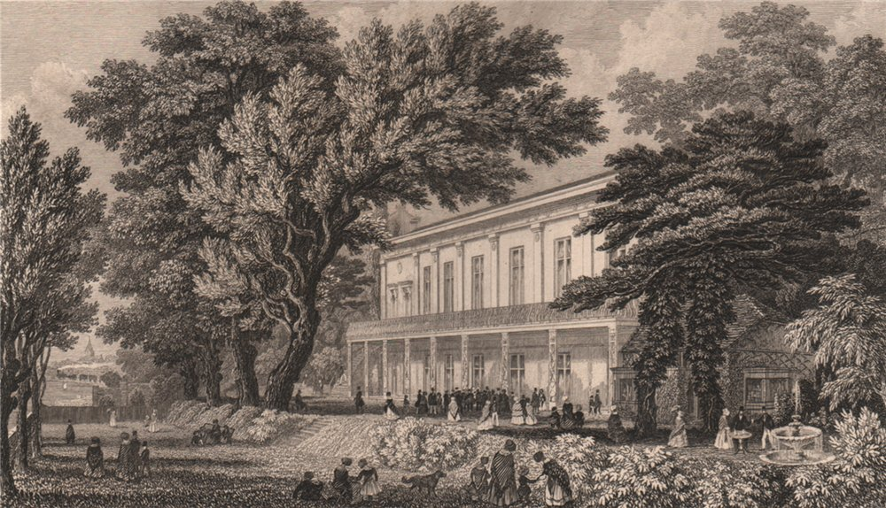 Associate Product SOUTHAMPTON. The Royal Victoria Spa & Assembly rooms. BRANNON 1853 old print