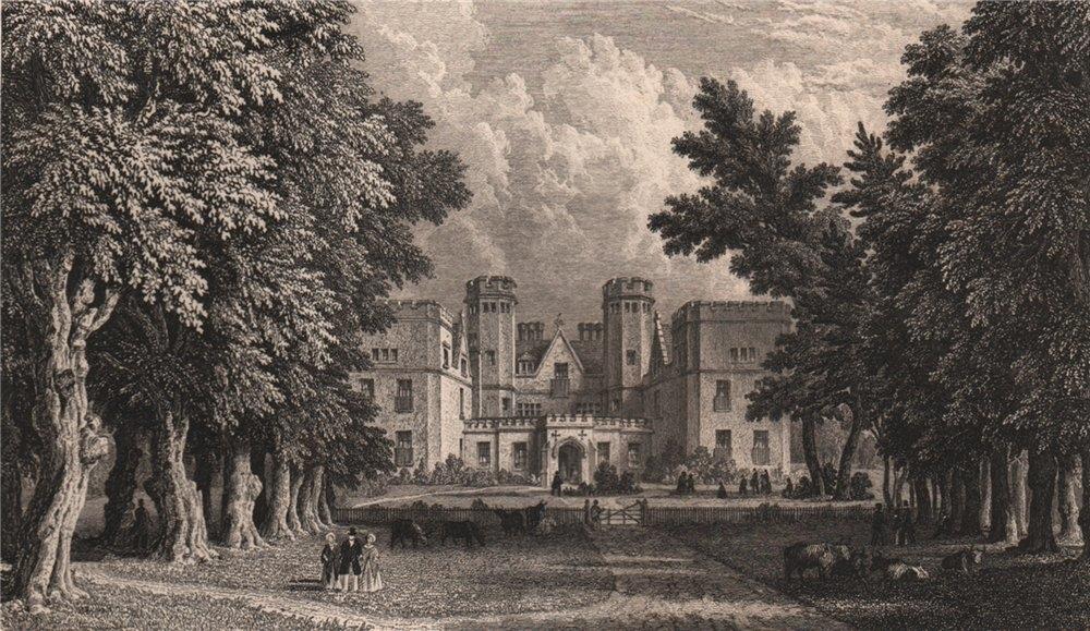 SOUTHAMPTON Grove Place Lunatic Asylum.Queen Elizabeth hunting seat.BRANNON 1853
