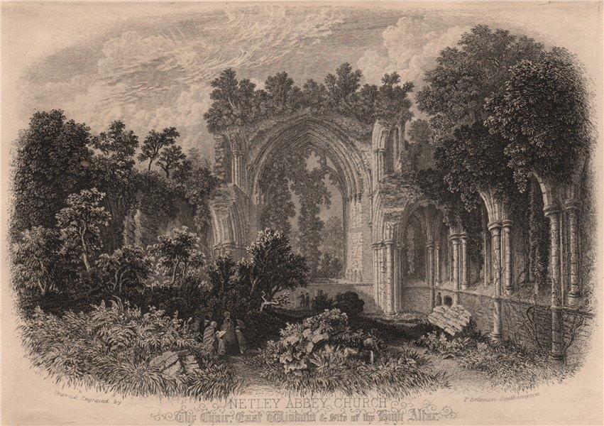 Associate Product SOUTHAMPTON. Netley Abbey Church. BRANNON 1853 old antique print picture