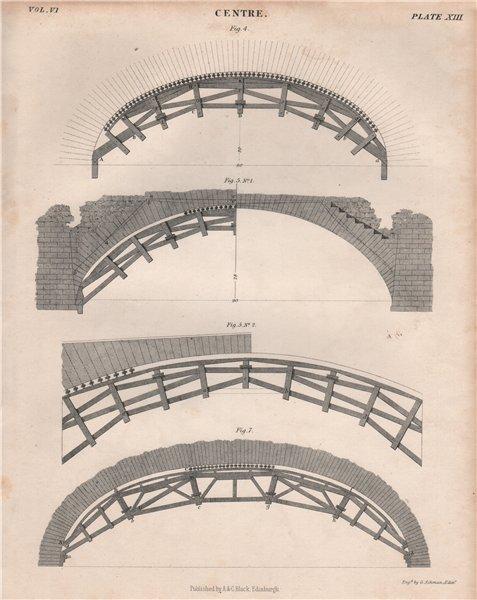 Associate Product Centre. Arches 2. BRITANNICA 1860 old antique vintage print picture