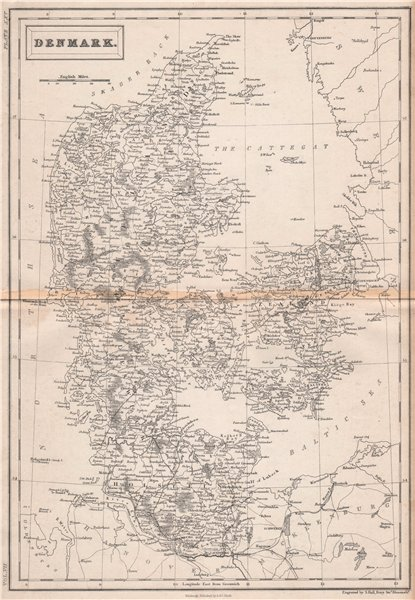 Associate Product Denmark including Schleswig Holstein. BRITANNICA 1860 old antique map chart