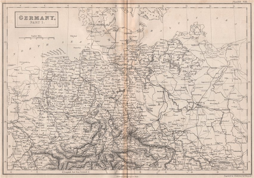 Associate Product Northern Germany. Railways. BRITANNICA 1860 old antique vintage map plan chart
