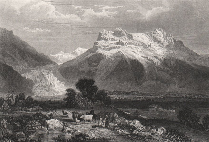Associate Product Grindelwald. Switzerland 1886 old antique vintage print picture
