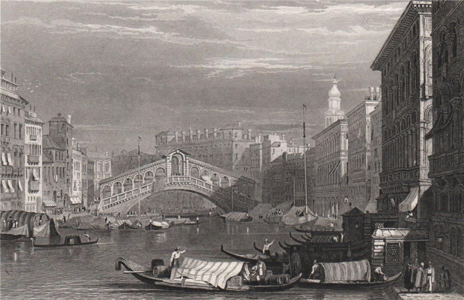 Associate Product The Rialto and bridge, Venice. Venezia 1886 old antique vintage print picture