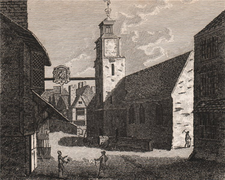 Associate Product CANTERBURY. 'All Saints Church'. GOSTLING 1825 old antique print picture