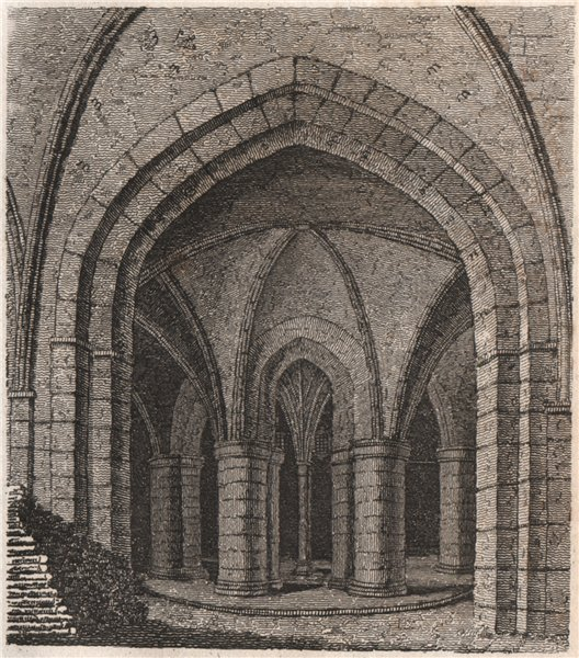Associate Product CANTERBURY CATHEDRAL. First Prebendury vaults. GOSTLING 1825 old antique print