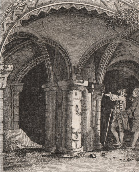 Associate Product CANTERBURY CATHEDRAL. 'The inside of the Baptistry'. GOSTLING 1825 old print